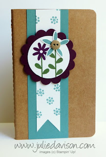 Stampin' Up! Mini Grid Journal with Flower Patch stamp set & Flower Fair Framelits #stampinup www.juliedavison.com