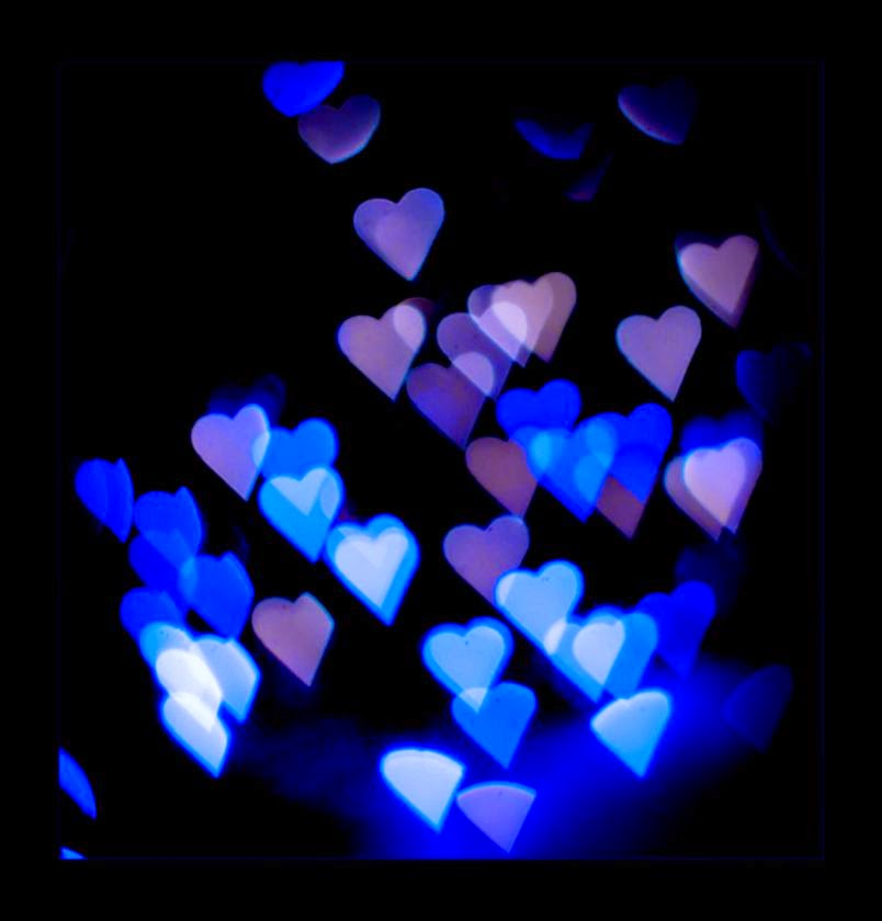 Images of Blue Hearts   Azure Hearts Photos