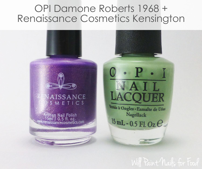 OPI Damone Roberts 1968 + Renaissance Cosmetics Kensington