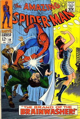 Amazing Spider-Man #59. Mary Jane Watson's first ever cover appearance