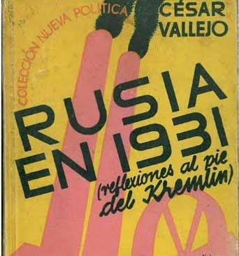 RUSIA 1931 - CÉSAR VALLEJO