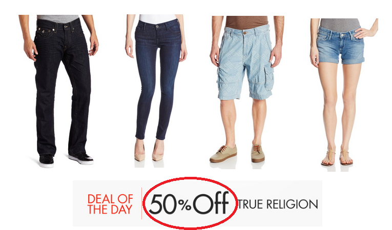 Amazon Daily Deal: 50% Off True Religion Denim