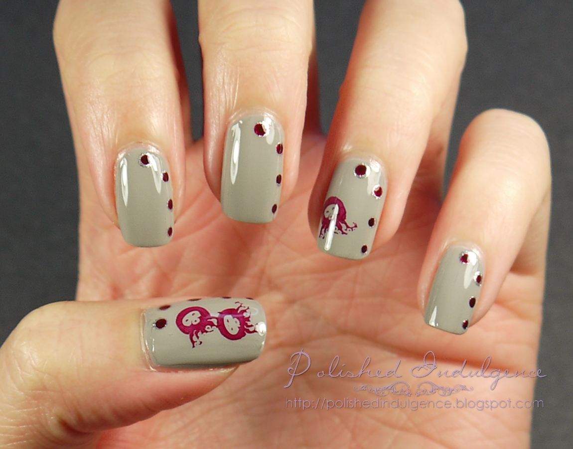 Polished indulgence nail art wednesday silly octopus nails between me and my nail polish remover but there are instances when its so bad that its good if you get what i mean heres a great example of that prinsesfo Image collections