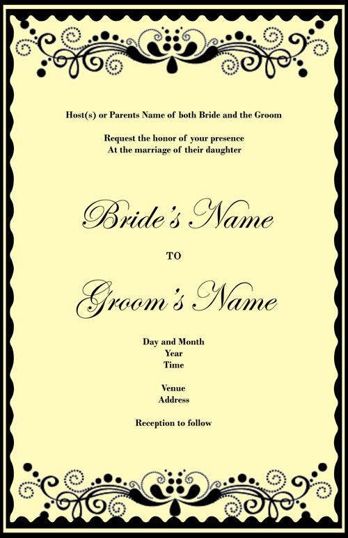 Wedding Invitation Design 05 Get this wedding invitation customized for