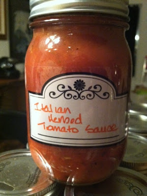 canning tomato sauce
