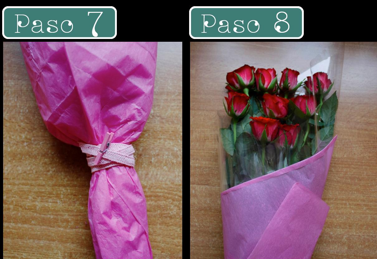 C mo decorar un ramo de rosas cortar coser y crear - Sedas para unas ...
