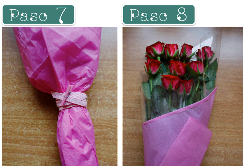 decorar ramo flores rosas