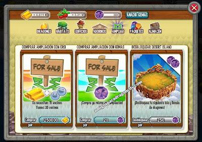 imagen de como comprar las nuevas islas de dragon city