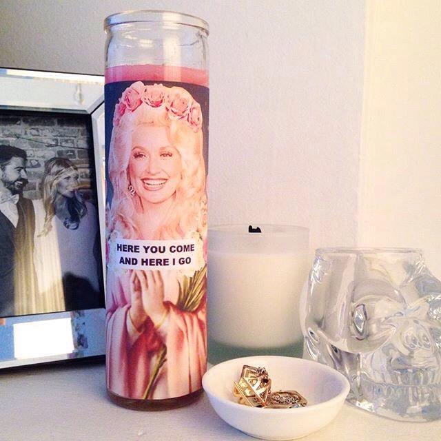 Dolly Parton Prayer Candle