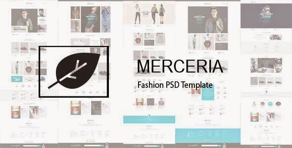 MERCERIA - Fashion PSD Template