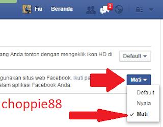 cara menonaktifkan pemutar video otomatis di facebook