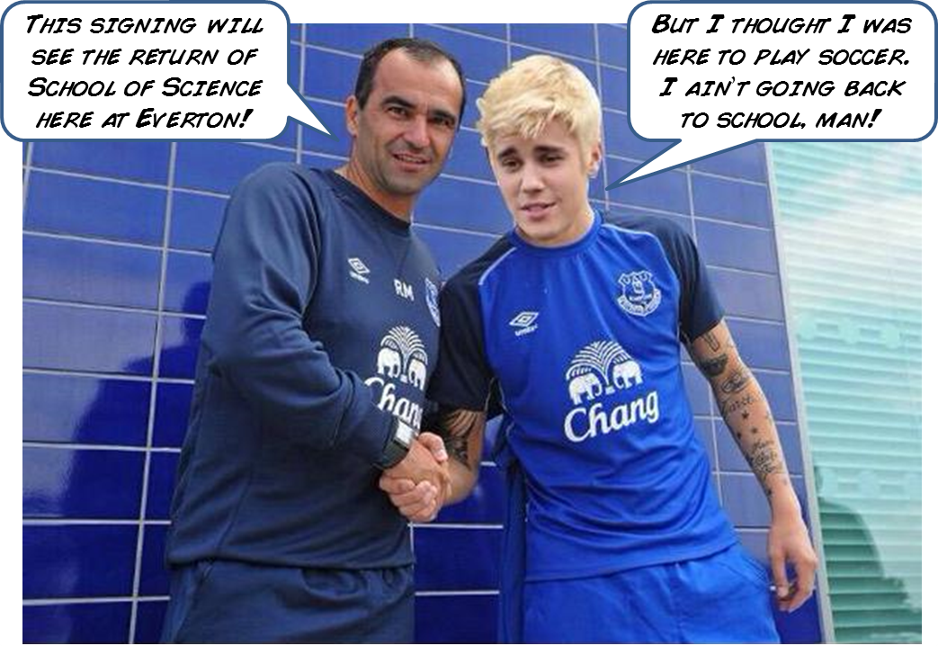 Justin Bieber, Everton, football shirt, football kit, funny, football, funny football picture, Roberto Martinez