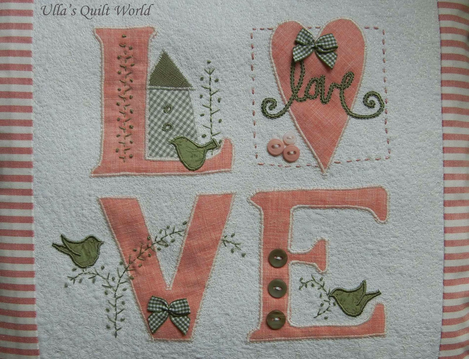 Quilting Patterns For Pillow Covers : Ulla s Quilt World