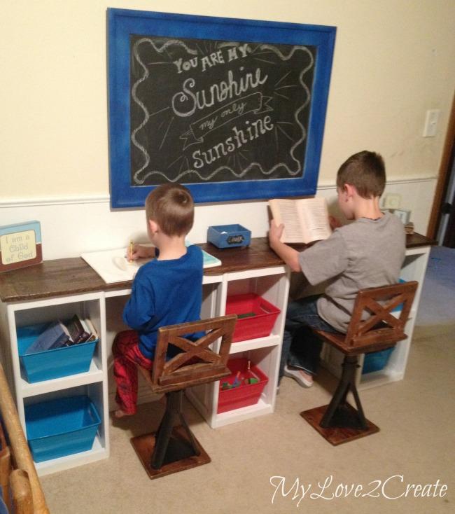 MyLove2Create, Rustic Industrial Kid Chairs