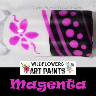 Wildflowers Nail Art Paint Magenta