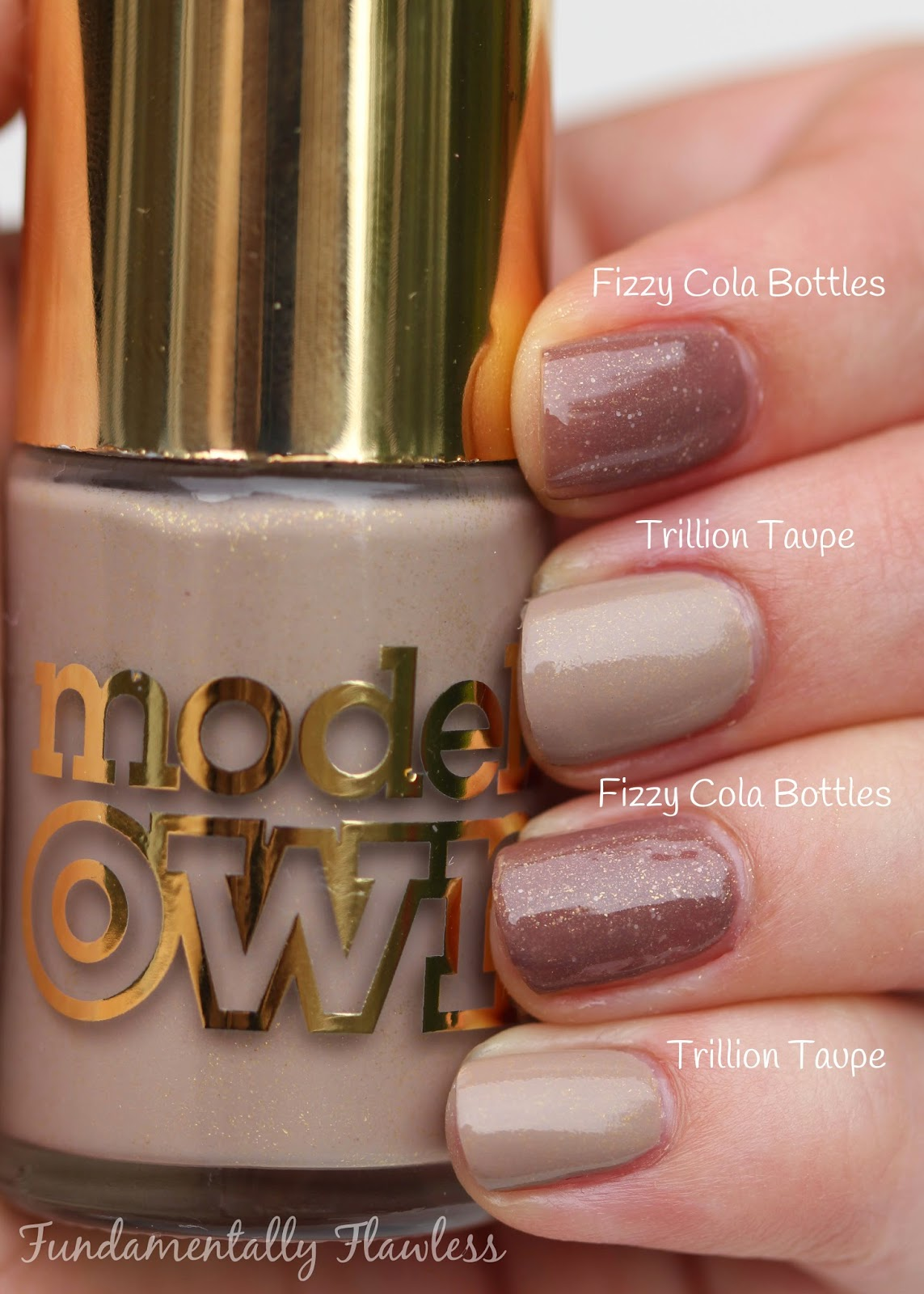 Models Own Fizzy Cola Bottles vs Trillion Taupe comparison