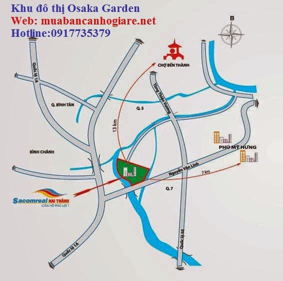 Vị trí đất nền Osaka Garden - Quận 8