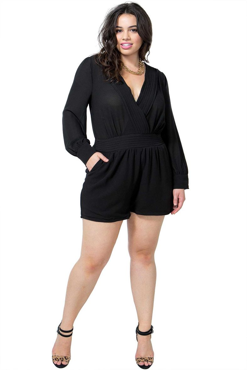 Shop plus size jumpsuits and rompers in a variety of colors from black to white. Discover dressy and casual jumpsuits with lace, off the shoulder & more.