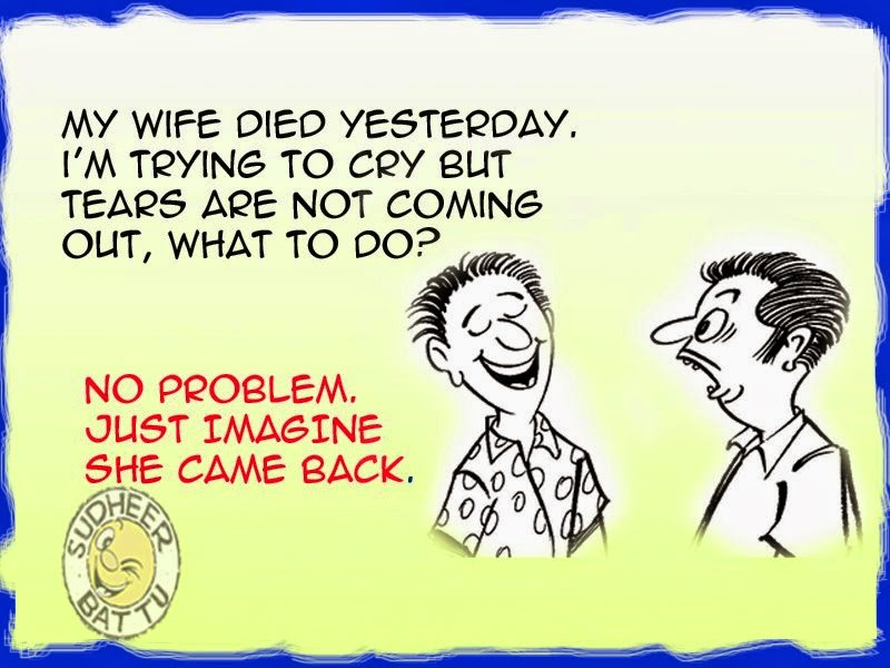 Very Funny Cartoon Humor Jokes on Wife.