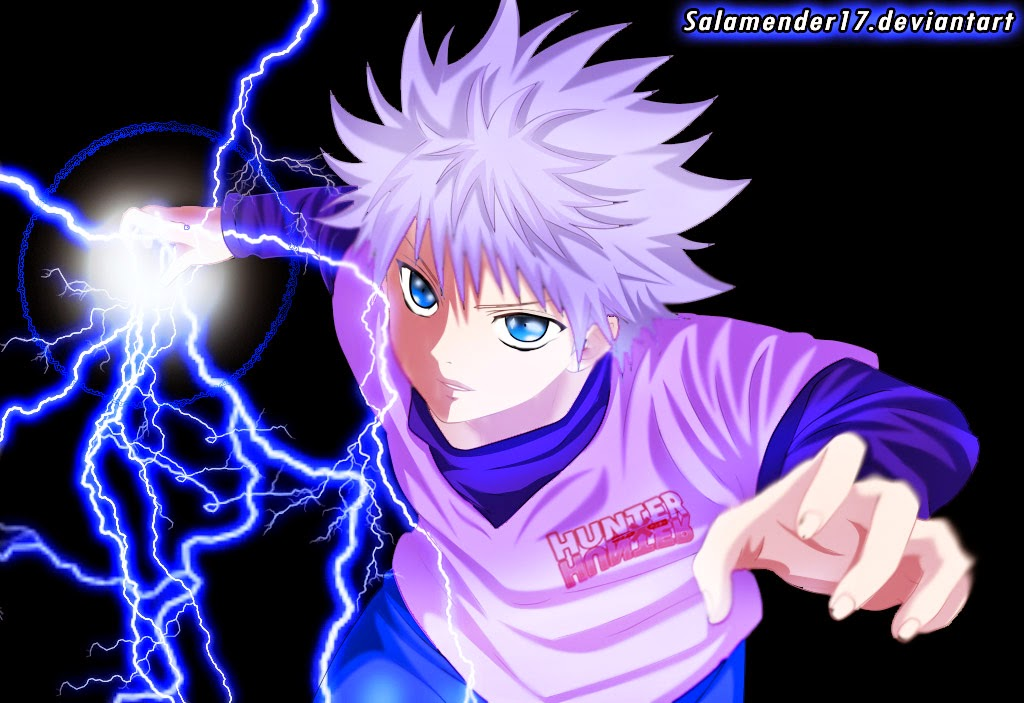 Anime hunter x hunter killua zoldyck hunter x hunter killua zoldyck killua has spiky silver hair very light skin and blue eyes his eyes change depending on the mood that hes in voltagebd Image collections