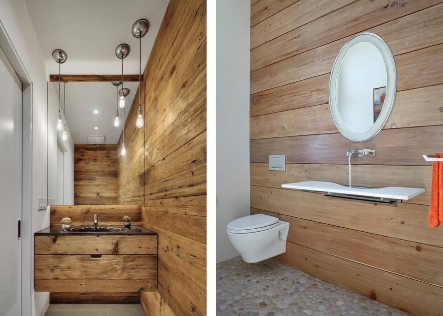 Revestimientos de madera reciclada inspiraci n espacios for Revestimiento para banos rusticos