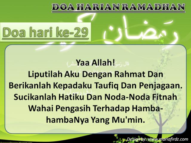 Doa Hari Ke-29