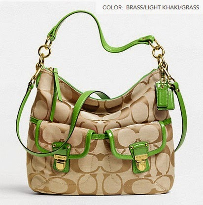 COACH Daisy Signature Pocket Hobo Shoulder Crossbody Bag 23392