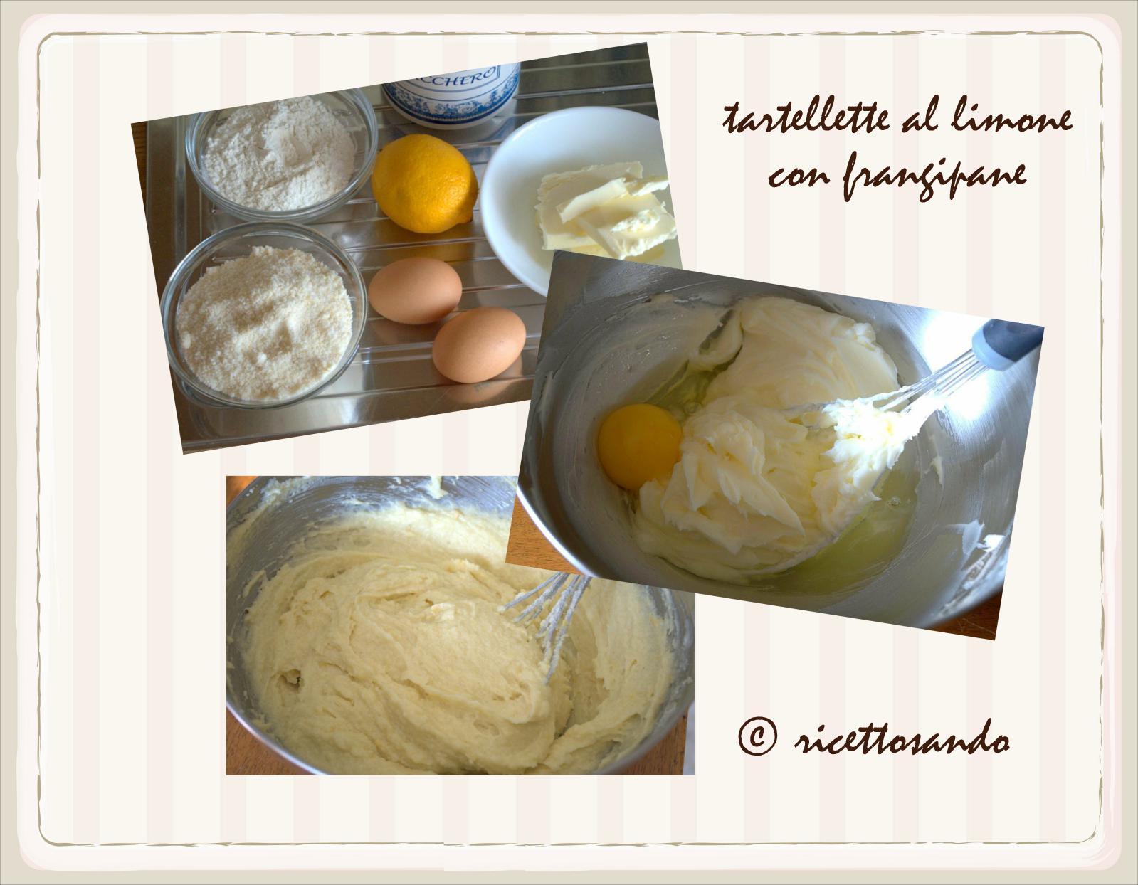 Crostatine al limone e frangipane ricetta dolce prepariamo la crema frangipane