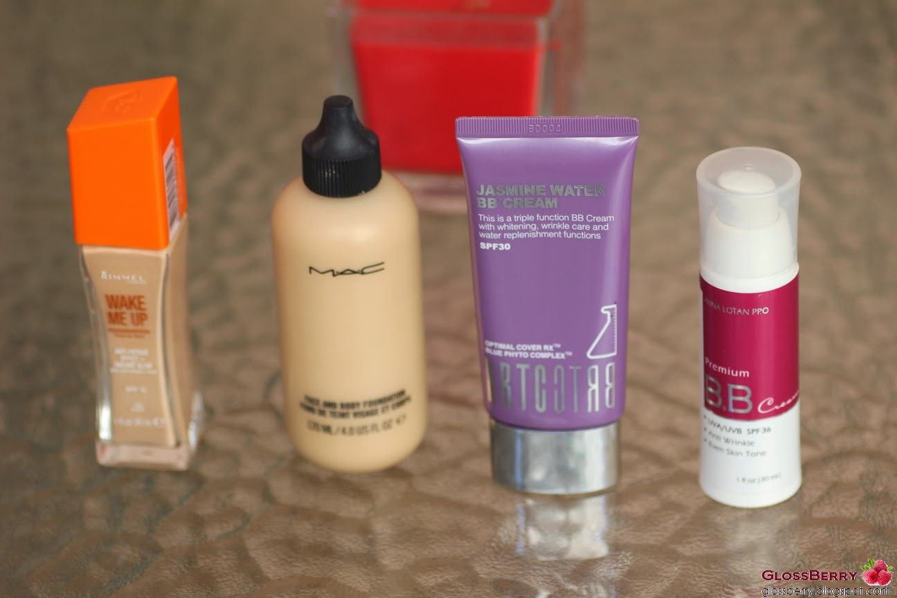 סקירה anna lotan bb cream, brtc, mac face and body, careblend, rimmel רימל אנה לוטן מאק פייס אנד בודי