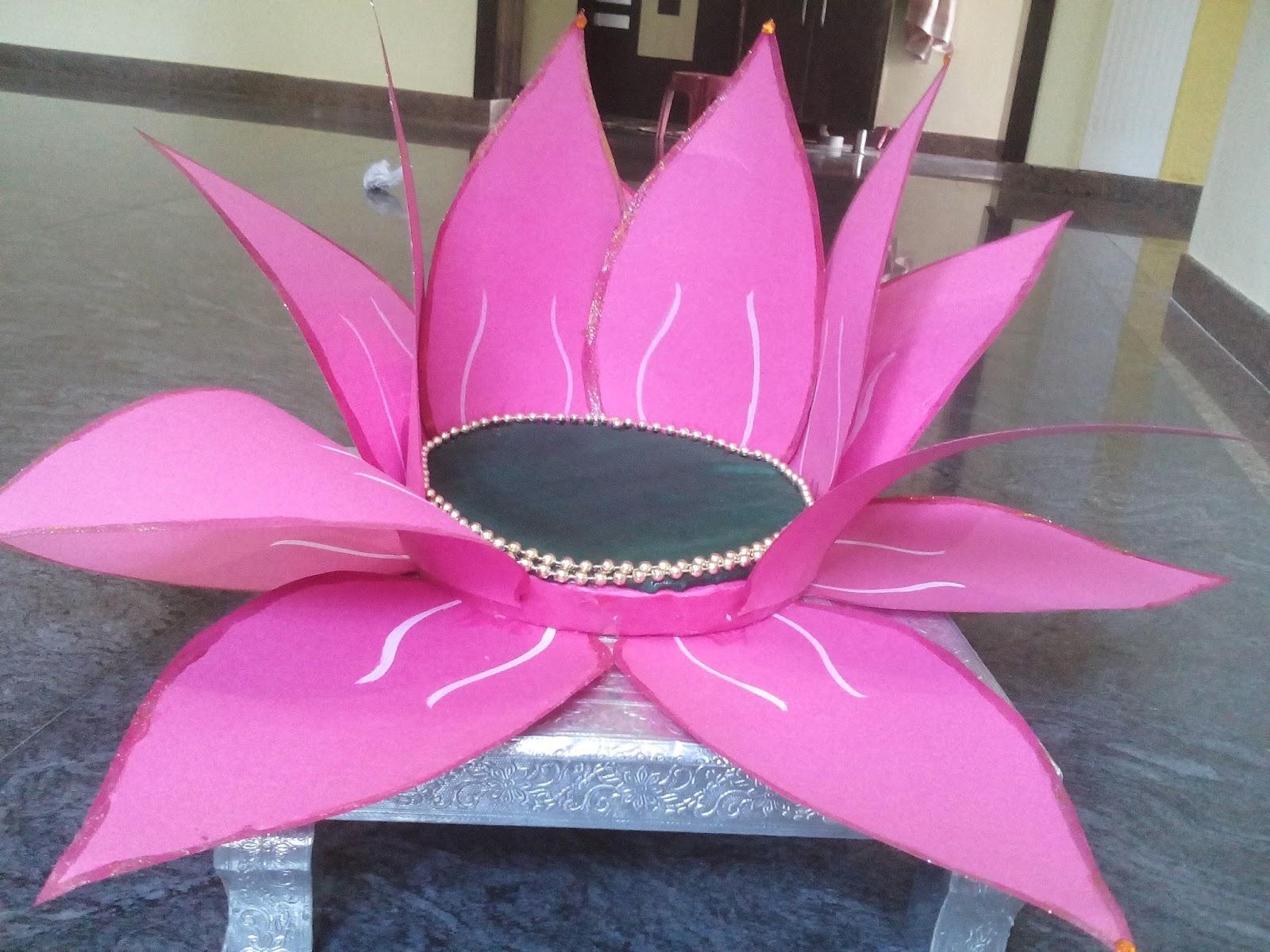 Namaste Art Lotus For Goddess Lakshmi For Varalakshmi Vratam