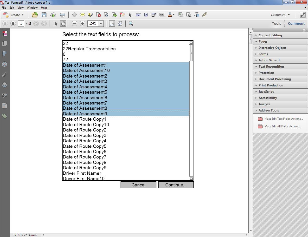 adobe acrobat - Format Fonts for Text Field Default Values - Super ...