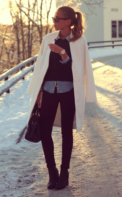 Kenza Zouiten blogger MTV scandinavia white coat high heels