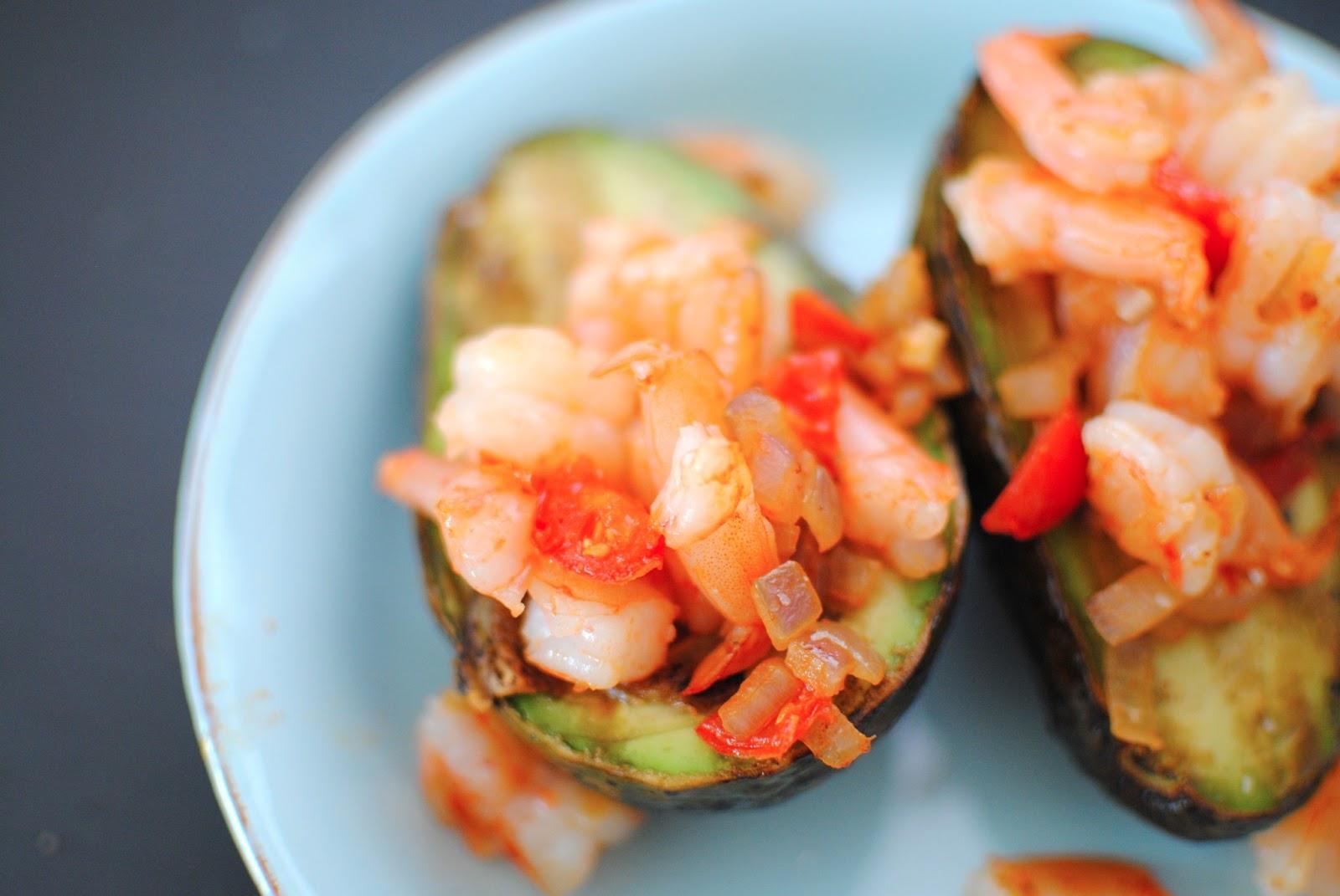 Shrimp Stuffed Avocados | Sparkle & Stir