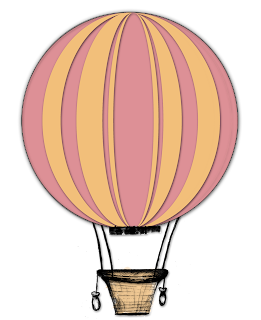 hot air balloon clip art png free download scrapbooking