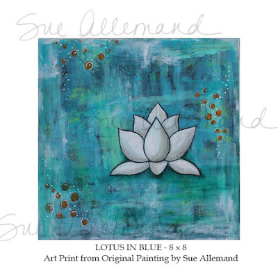 Lotus in Blue by Sue Allemand