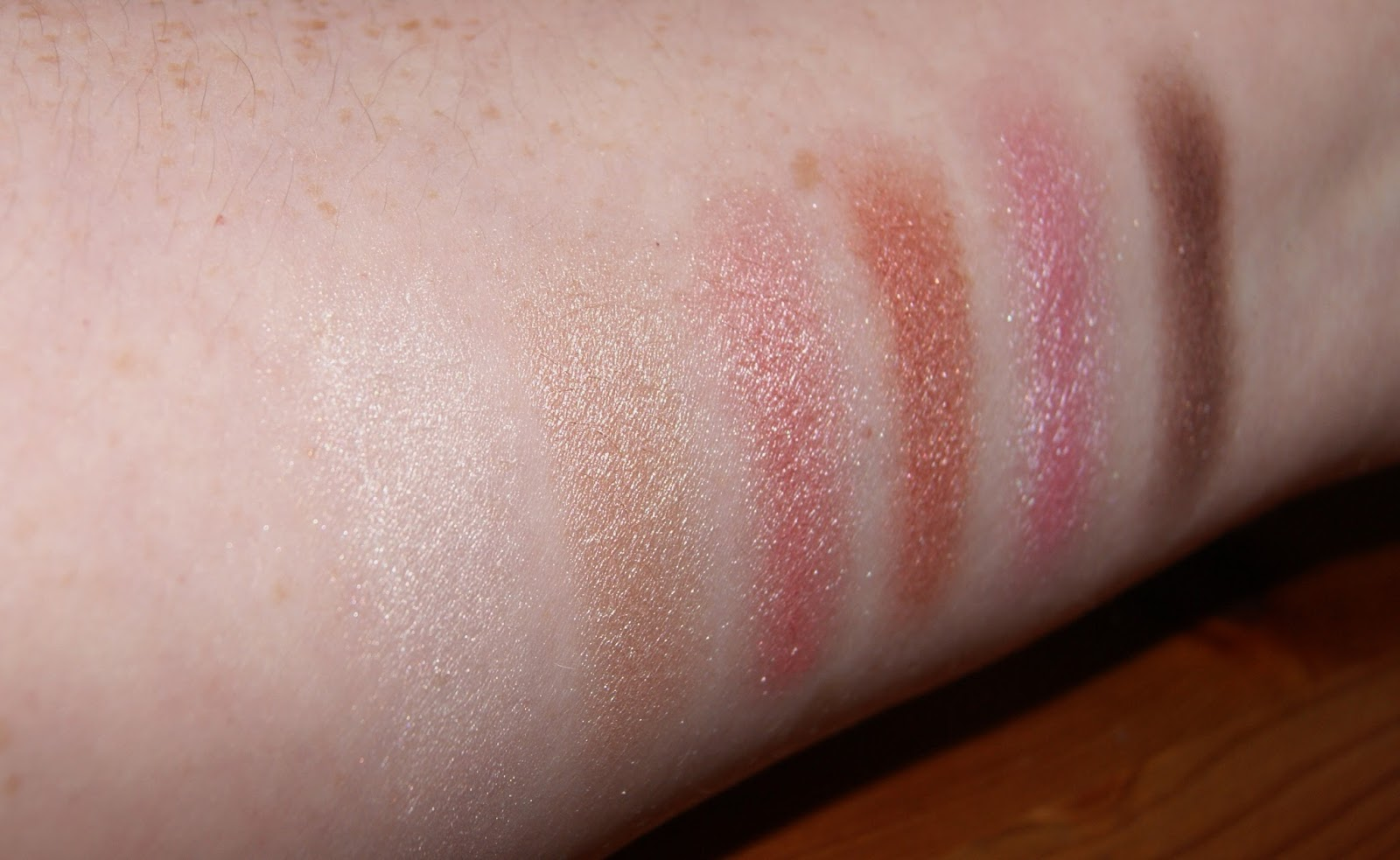 Makeup Revolution Girl Panic Row 1 Swatches