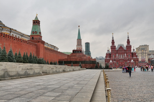 Catedral de San Basilio y la Plaza Roja de Moscú