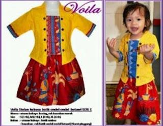 Model Baju Batik Anak Perempuan 6