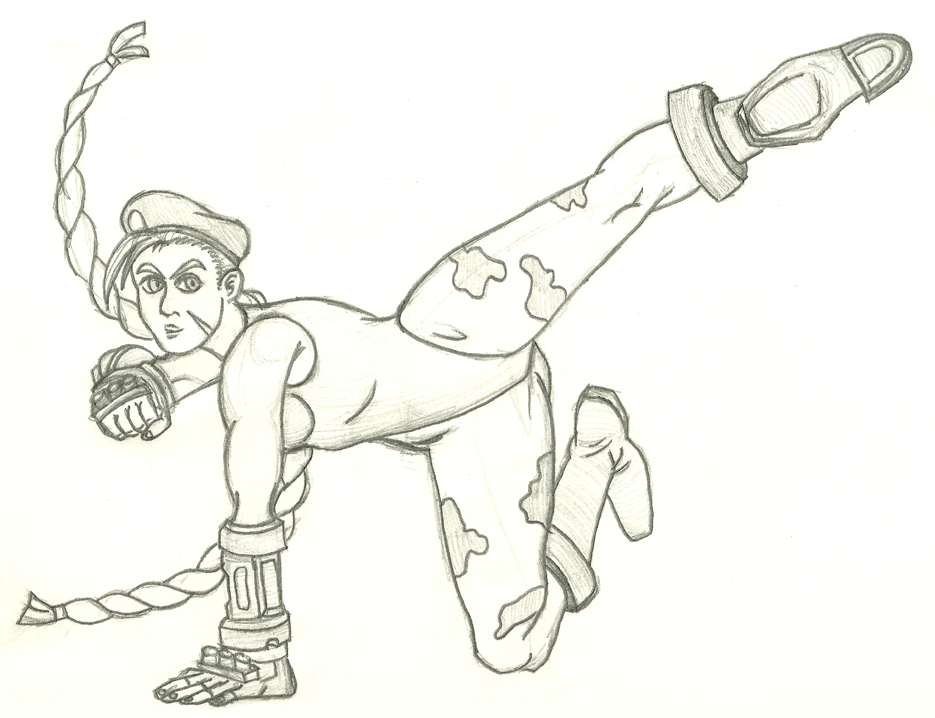 Sketch of the day: Street Fighter Cammy. Today's sketch is of Cammy  title=