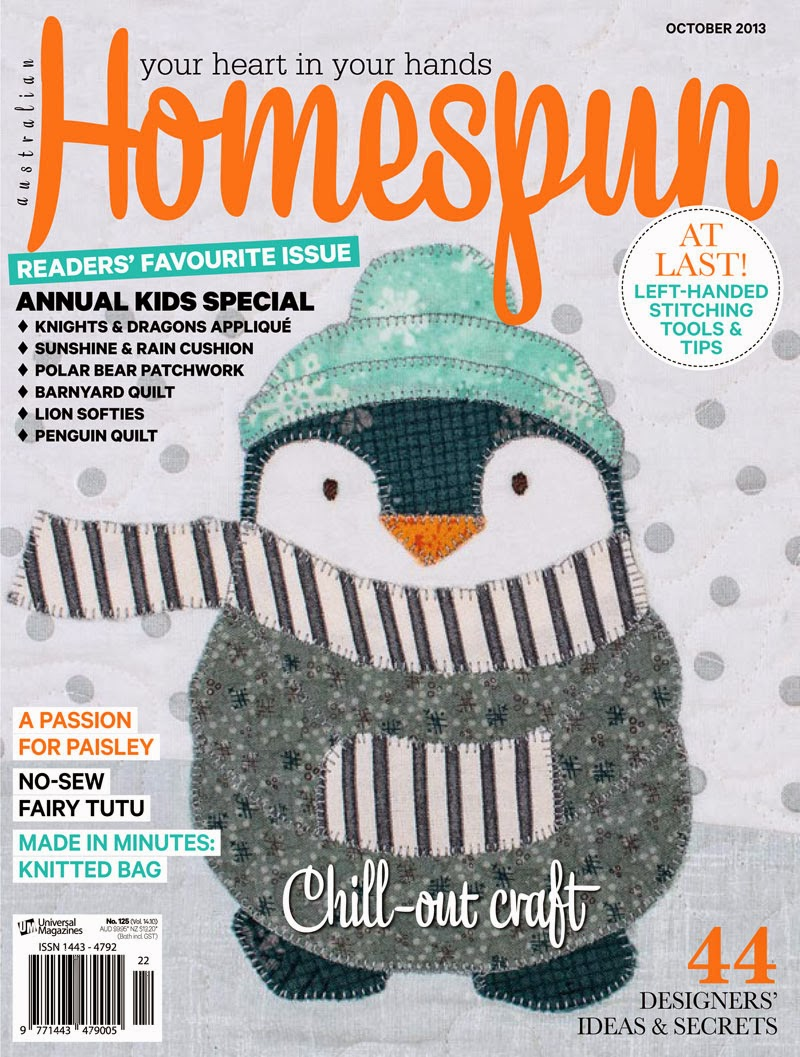 The 1 craft magazine in australia homespun magazine has launched a new