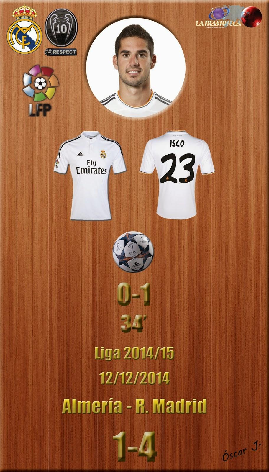 Almería 1-4 Real Madrid - Liga 2014/15 - Jornada 15 - (12/12/2014) - Cristiano Ronaldo consigue otro doblete
