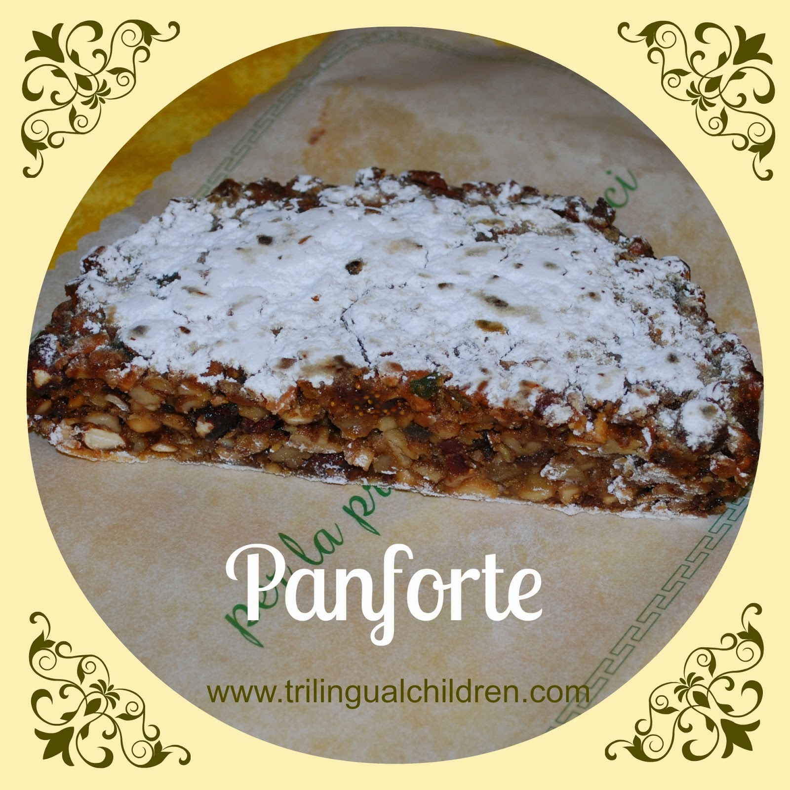 Panforte hard Italian sweet