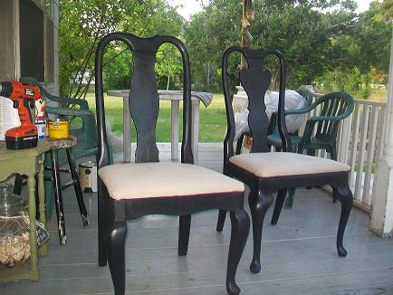 DIY Chalk Painted Chairs~