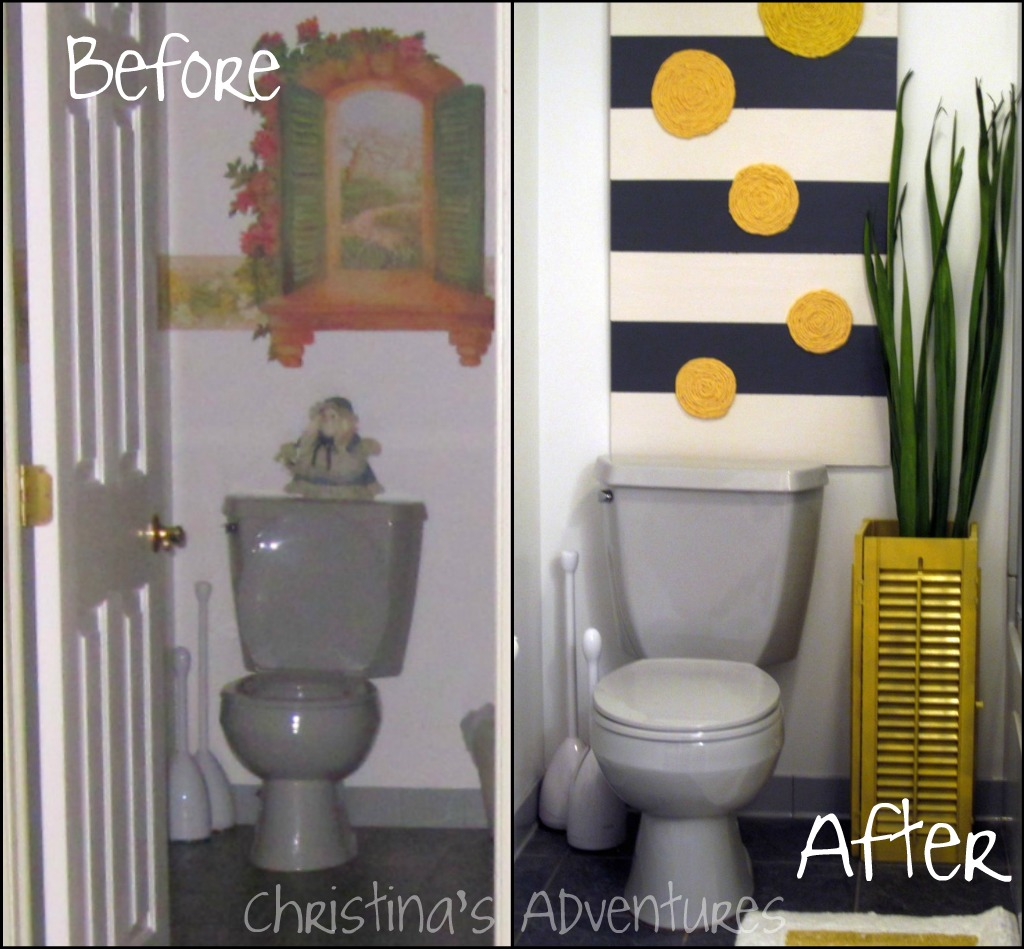 my diy bathroom makeover - christinas adventures