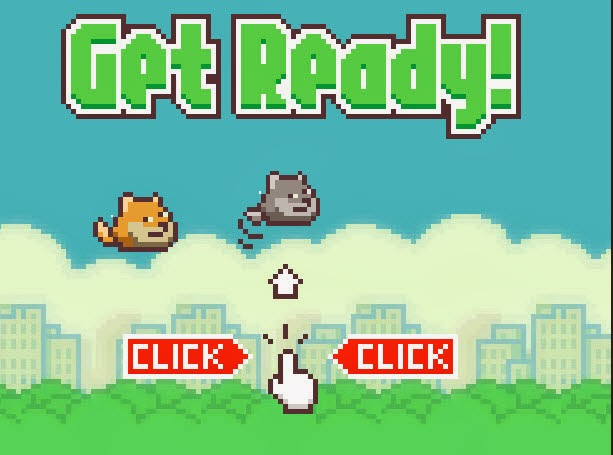 كيف تلعب لعبة Flappy Doge نسخة من  Flappy Bird أون لاين