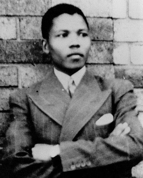 Nelson Mandela en 1937.