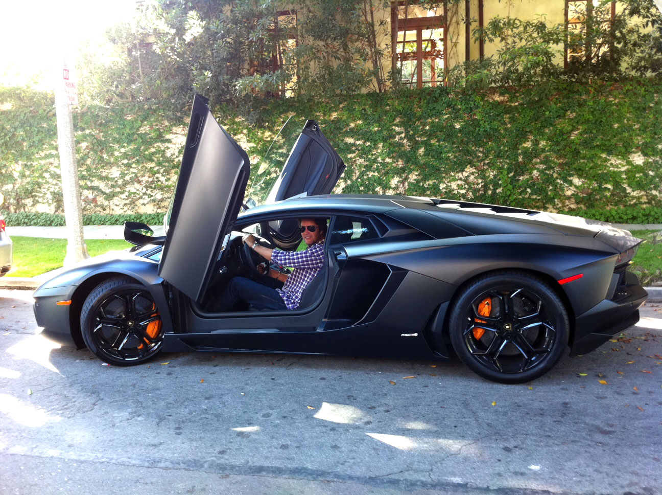 2012 Lamborghini Aventador Lp700 4 In Matte Black Latest Auto Design