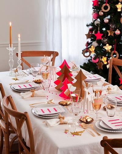 Arbol navidad rojo y oro - Mesa para navidad decoracion ...