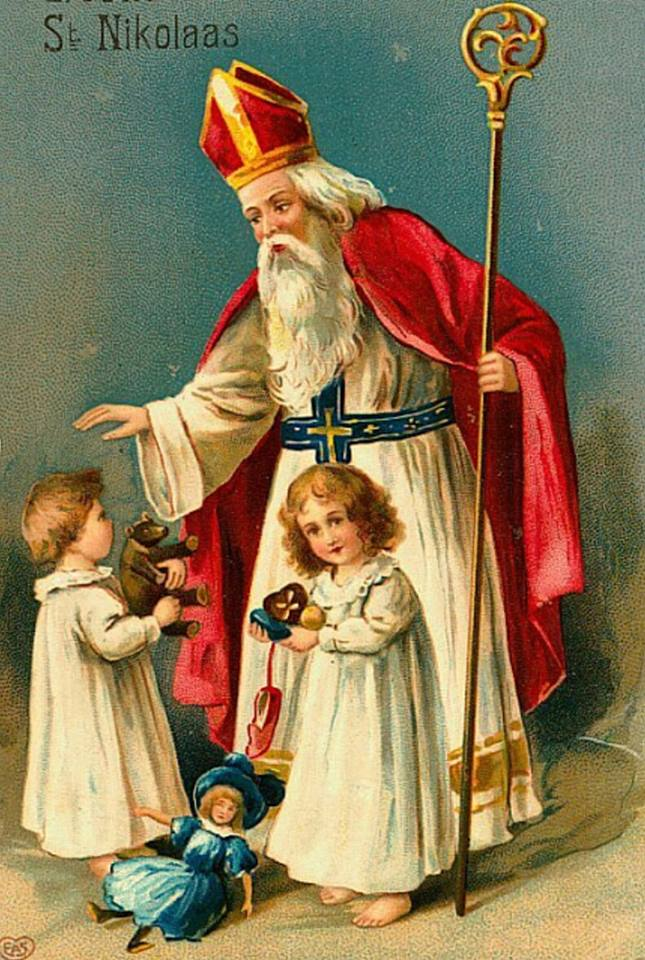 Vive saint nicolas mes 15 cartes anciennes pr f res de saint nicolas - Image de saint nicolas a imprimer ...