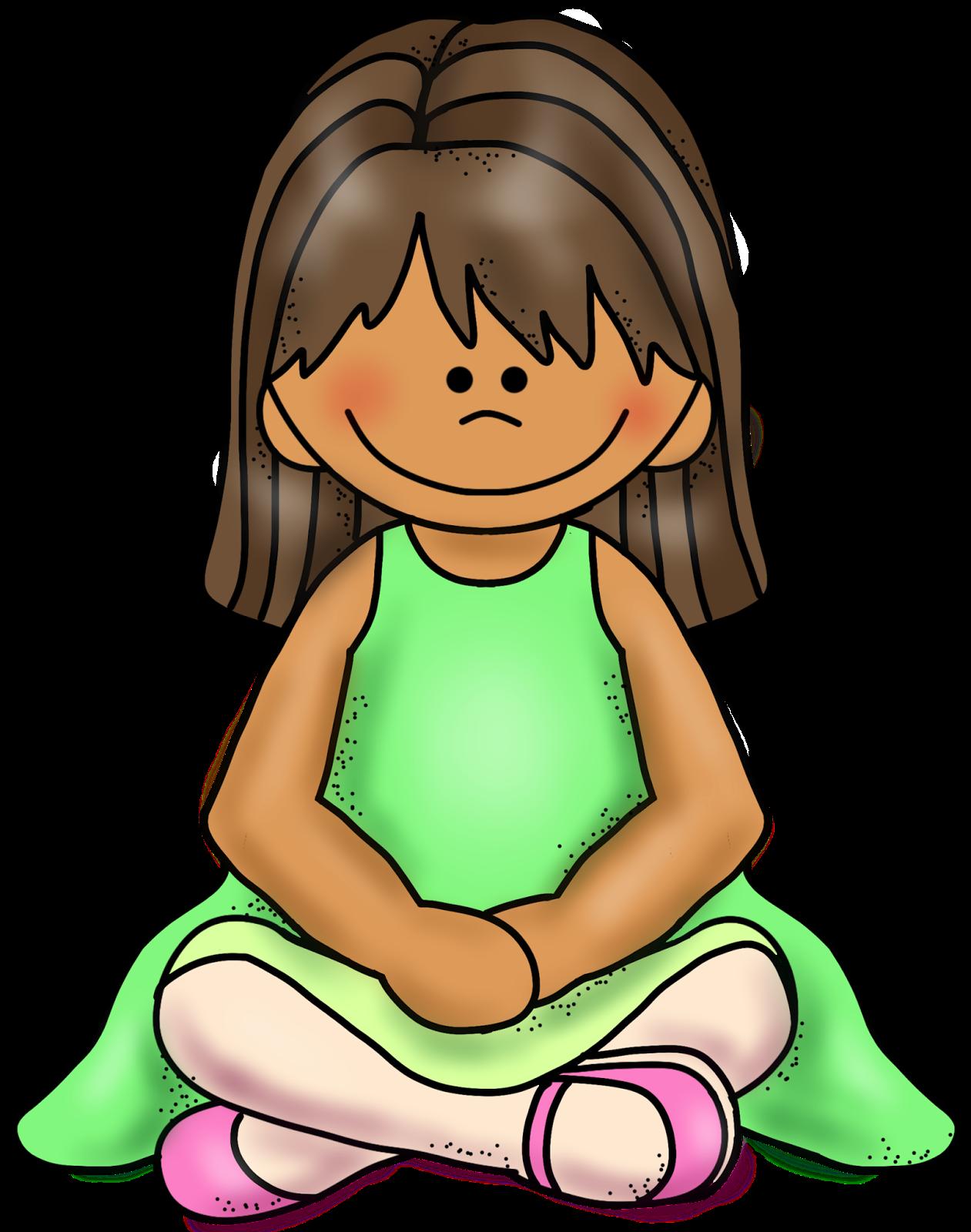 Girl sitting criss cross clip art